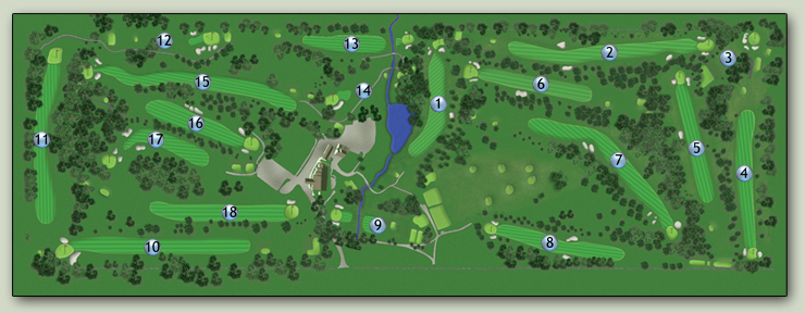 Lebanon Country Club golf course layout